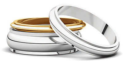 all of these bands can be engraved and most can be personalized with special finishes and laser patterns - Classic Wedding Rings