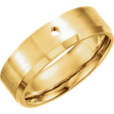 Gypsy-Set Beveled Band