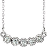 Five-Stone Bezel-Set Necklace or Center