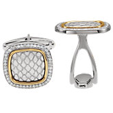 Diamond Snake Print Cuff Links