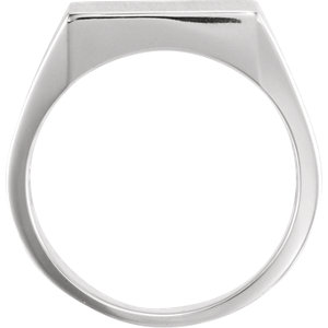 Sterling Silver 13.5x14mm Square Signet Ring