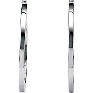 Square Tube Hinged Earrings