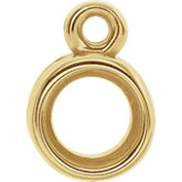 Round Grooved Bezel-Set Dangle