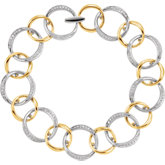 Diamond Two-Tone link Bracelet