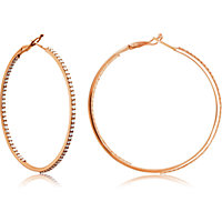 Prong Set Inside/Outside Diamond Hoop Earrings