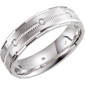 Design 6mm 1/6 CTW Diamond Band Size 10