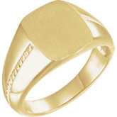 Men's Signet Rope Ring
