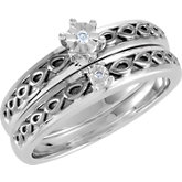 6-Prong Illusion Solitaire Engagement Ring or Band