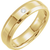 Accented Half Round Beveled Edge Band