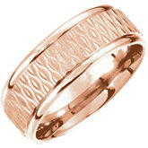 Comfort-Fit Carved Band