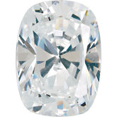 Antique Cushion Lab Created White Cubic Zirconia