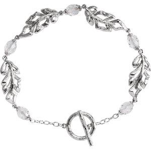 Sterling Silver Clear Quartz Leaf 7