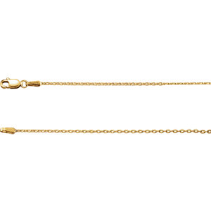 Necklace / Chain , 1.5mm Cable Chain