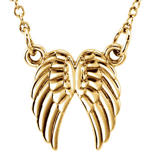 14K Yellow Tiny Posh® Angel Wings 16-18