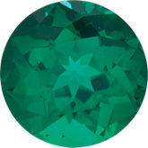 Round Lab Created Emerald