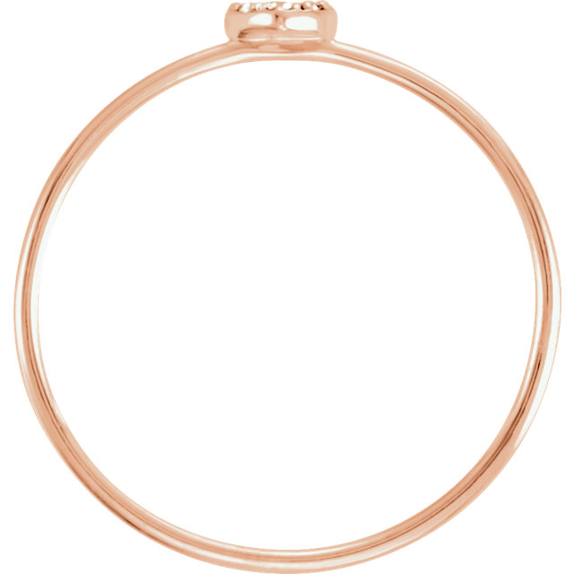 14K Rose .03 CTW Diamond Petite Heart Ring