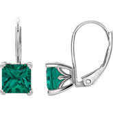Square 4-Prong Lever Back Earrings
