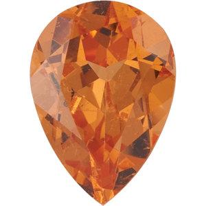 Garnet Pear 0.22 carat Orange Photo