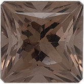Square SWAROVSKI GEMSTONES™ Genuine Oak Smoky Quartz
