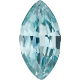 Marquise Genuine Blue Zircon