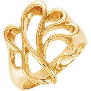 Fashion Rings , 14K Yellow Freeform Ring