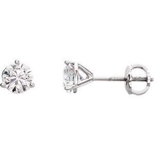 Earrings , Platinum 3/8 CTW Riente Diamond® Stud Earrings