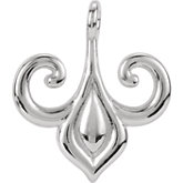 Fleur-de-lis Dangle Component with Ring