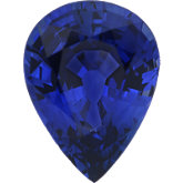 Pear Genuine Blue Sapphire (Black Box)