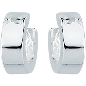 Sterling Silver 11.5mm Hinged Earrings