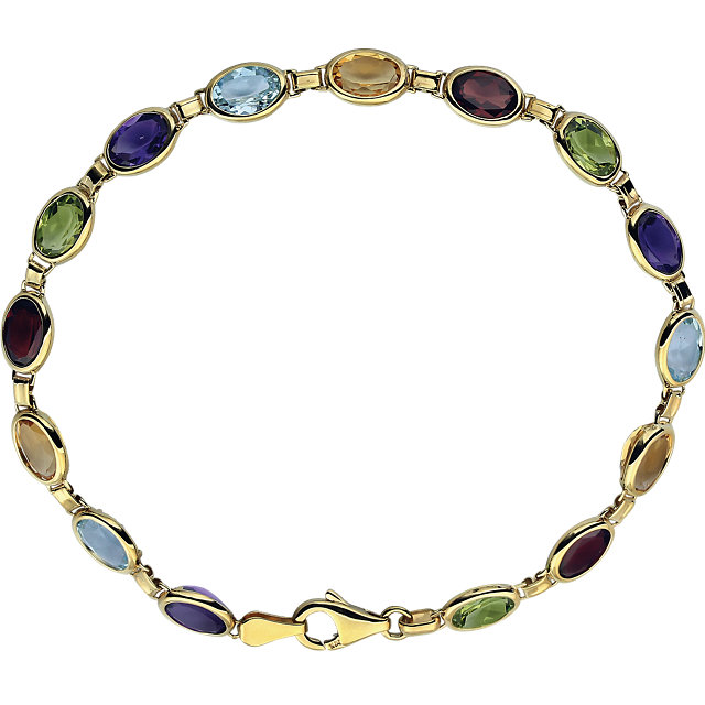 14K Yellow Multi-Gemstone 7
