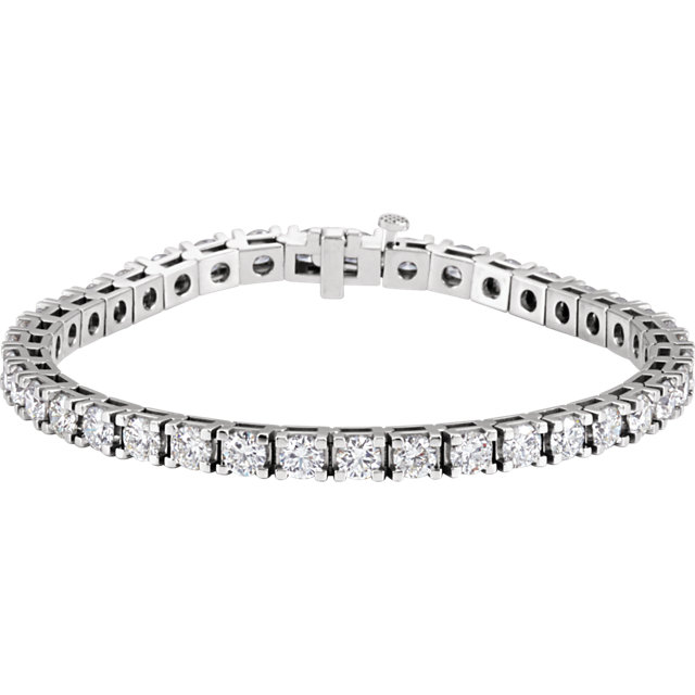 18K White 9 CTW Diamond Line 7.25