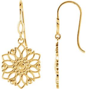Earrings , 14K Yellow Decorative Dangle Earring