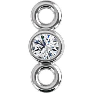 14K White .015 CTW Diamond Micro Bezel Link