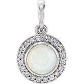 Bezel-Set Halo-Style Pendant or Dangle
