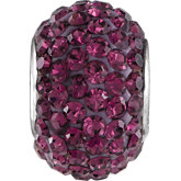 Kera® Roundel Bead with Pavé Purple Crystals