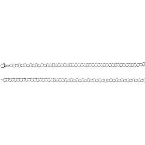 Necklace / Chain , 6.25mm Sterling Silver Ring Link Chain