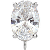 Oval 4-Prong Solitaire Bail with Ring