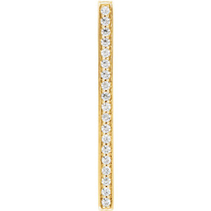 14K Yellow 1/5 CTW Diamond Vertical Bar Pendant
