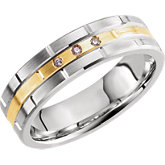 Comfort-Fit Two-Tone Band