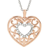 Granulated Filigree Heart Necklace