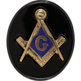 Oval Black Masonic