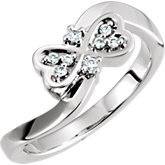 Youth Double Heart Ring Mounting