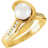 Freeform Ring for Pearl