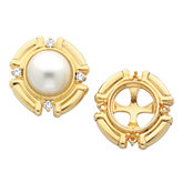 Accented Earring Mounting for Pearl