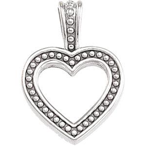 Pendant, Platinum Heart Pendant