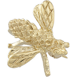 Brooche, Pin , 18K Yellow 18x16mm Bee Brooch
