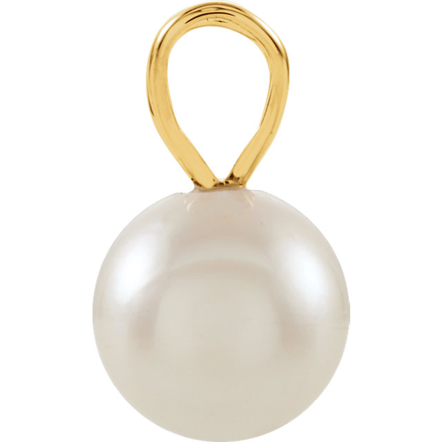 14K Yellow Akoya Cultured Pearl Pendant