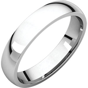 18K White 4 mm Lightweight Comfort-Fit Band