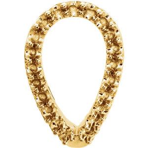 897334efaa63a 14K Yellow Geometric J-Hoop Earring Mounting | Stuller