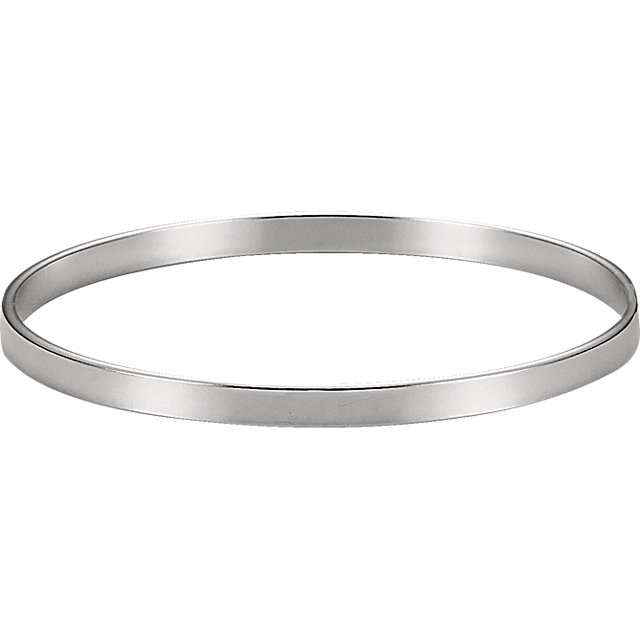Sterling Silver 4.75 mm Bangle Bracelet
